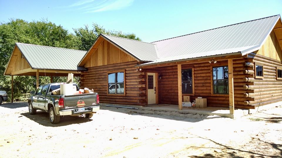 Log cabin builders east texas mt pleasant longview for Cabin builder texas
